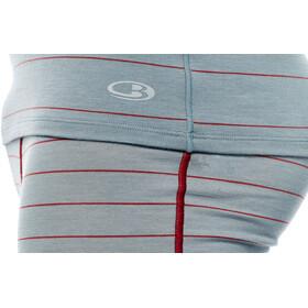 Icebreaker Anatomica SS Crewe Shirt Men Vapour/Vintage Red/Stripe